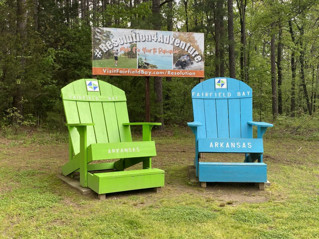 Fairfield Bay Main Entrance Adirondack Chairs