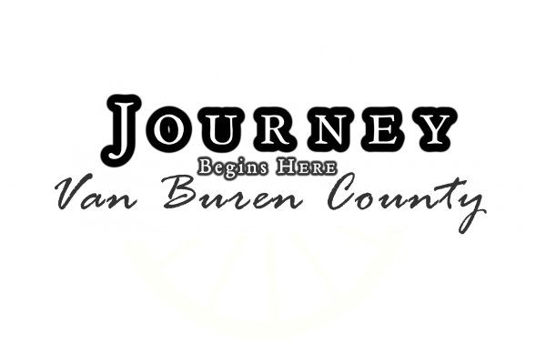 Van Buren County - The Journey Begins Here (white)