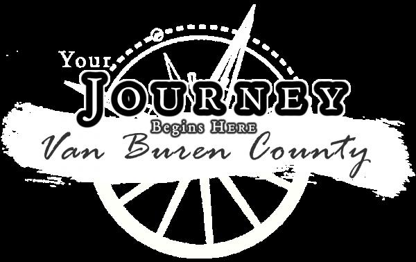 Van Buren County - The Journey Begins Here (white)